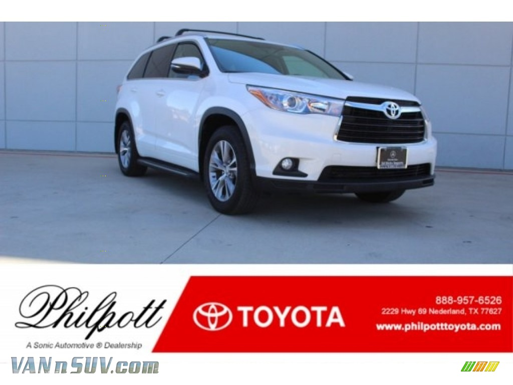 2015 Highlander XLE - Blizzard Pearl White / Black photo #1