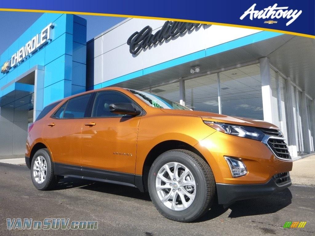 2018 Equinox LS AWD - Orange Burst Metallic / Medium Ash Gray photo #1