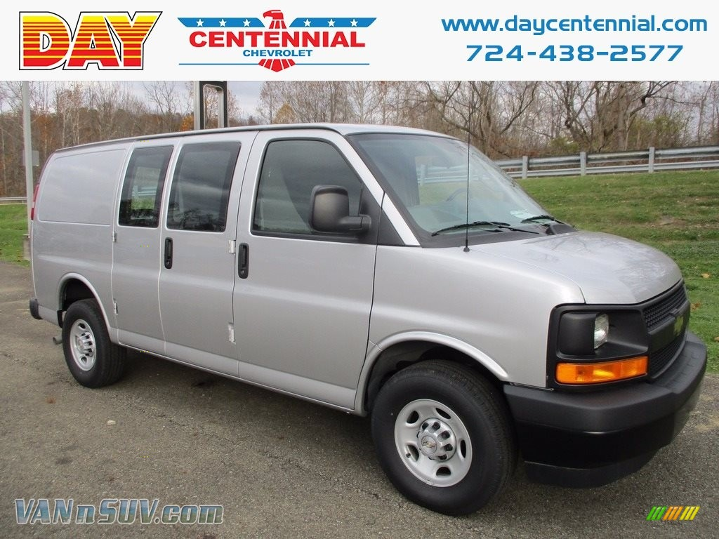 Silver Ice Metallic / Medium Pewter Chevrolet Express 2500 Cargo WT