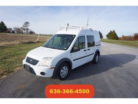 Frozen White 2012 Ford Transit Connect XLT Van