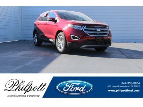 Ruby Red Metallic 2017 Ford Edge SEL