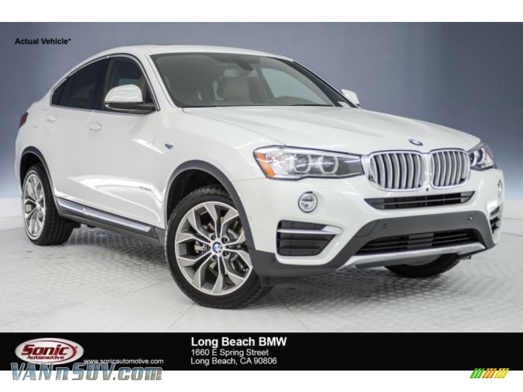 2018 X4 xDrive28i - Mineral White Metallic / Saddle Brown photo #1