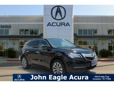 Crystal Black Pearl 2015 Acura MDX Technology