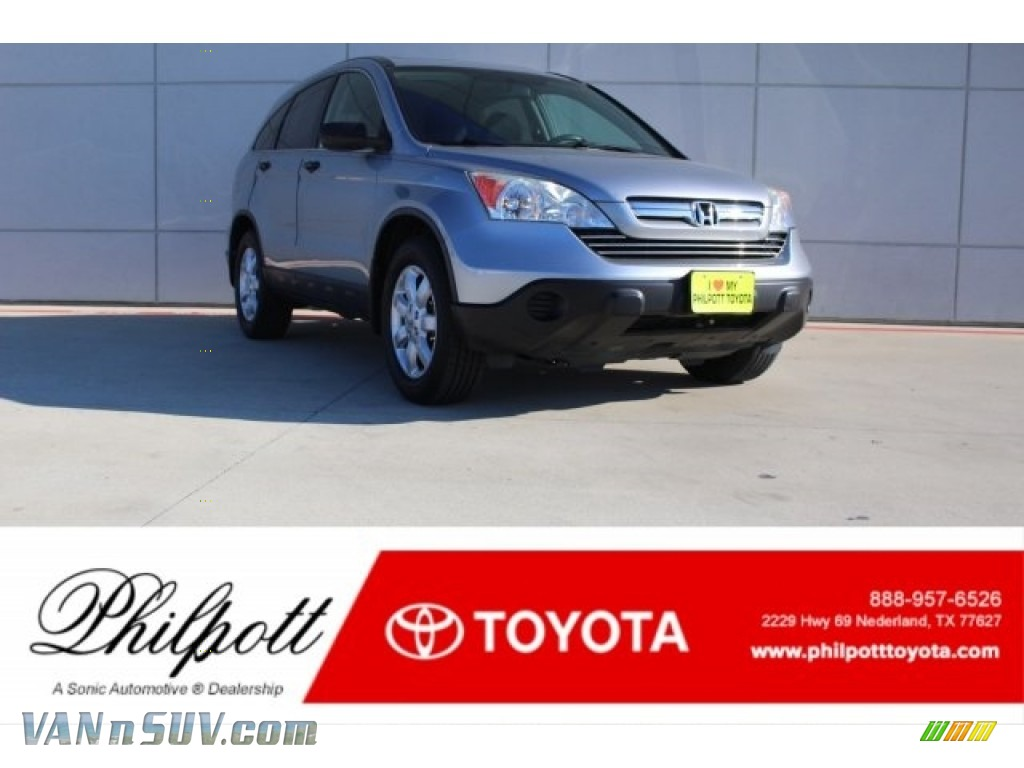 2008 CR-V EX 4WD - Whistler Silver Metallic / Black photo #1