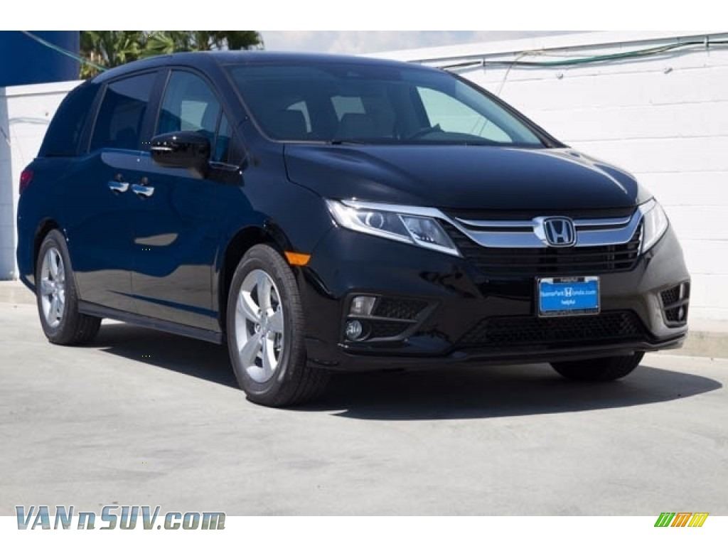 2018 Odyssey EX-L - Crystal Black Pearl / Gray photo #1