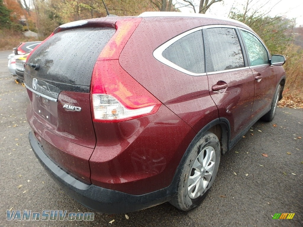 2012 CR-V EX-L 4WD - Basque Red Pearl II / Beige photo #4