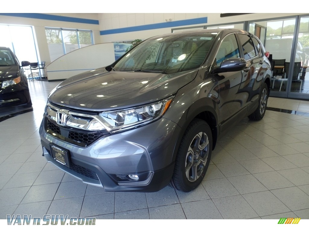 2017 CR-V EX - Modern Steel Metallic / Gray photo #1