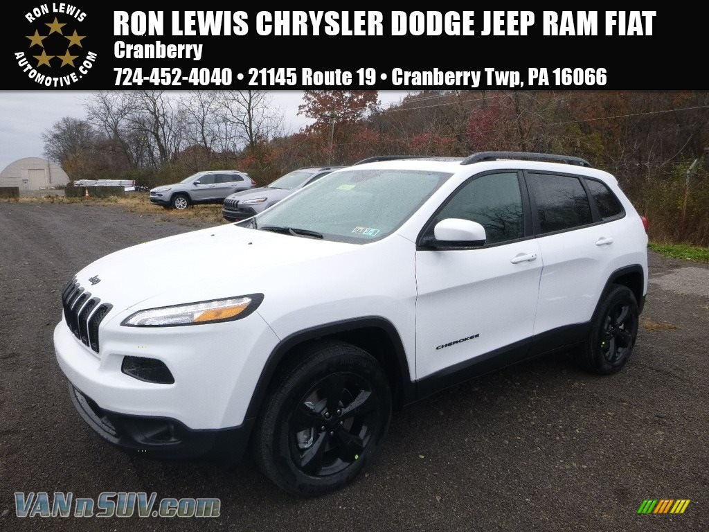Bright White / Black Jeep Cherokee Limited 4x4