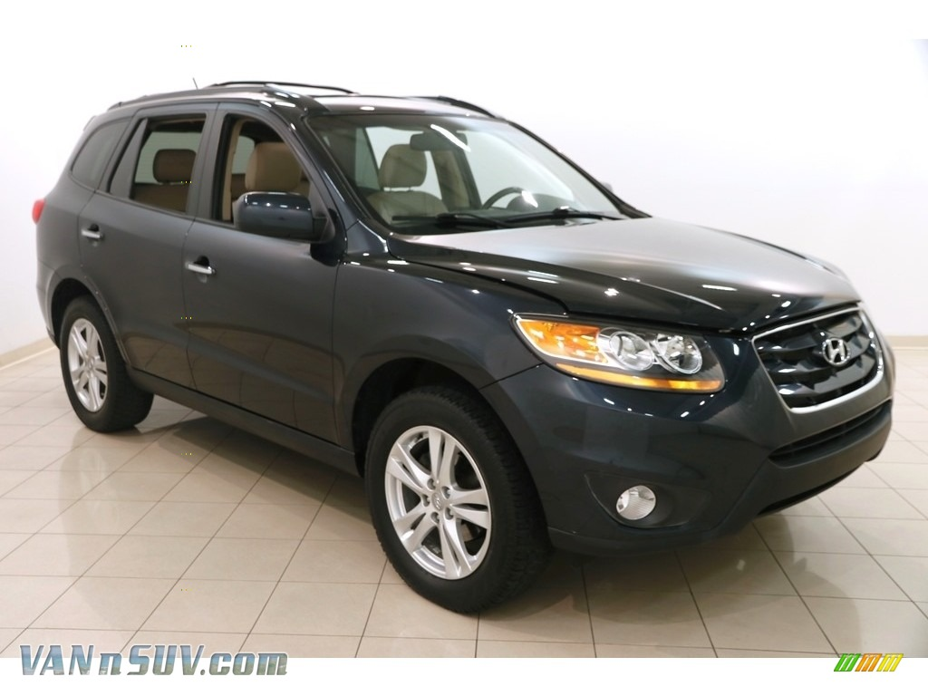 2011 Santa Fe Limited AWD - Pacific Blue Pearl / Beige photo #1