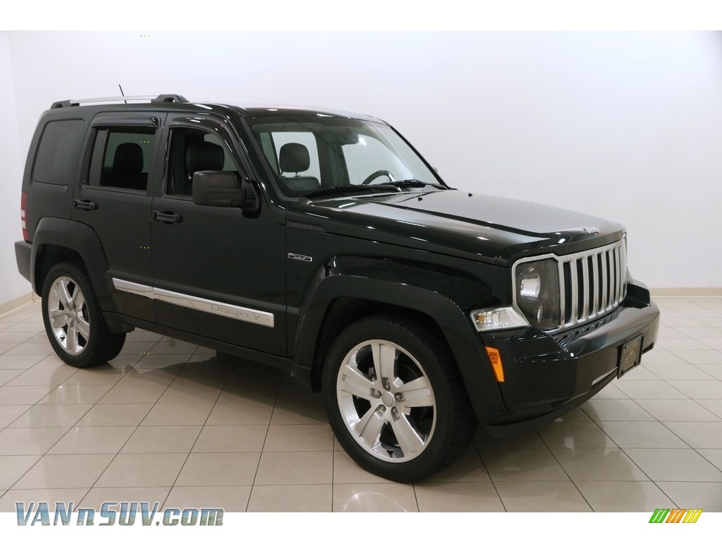 2012 Liberty Jet 4x4 - Black Forest Green Pearl / Dark Slate Gray photo #1