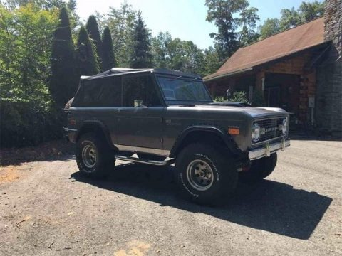 Gun Metal Gray 1973 Ford Bronco 4x4