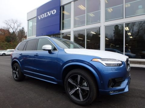 Bursting Blue Metallic 2018 Volvo XC90 T6 AWD R-Design