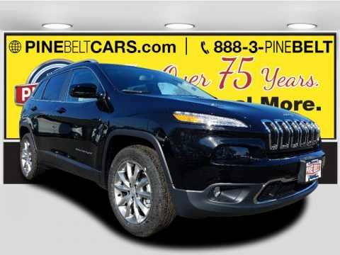 Diamond Black Crystal Pearl 2018 Jeep Cherokee Limited 4x4