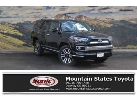 Midnight Black Metallic 2018 Toyota 4Runner Limited 4x4