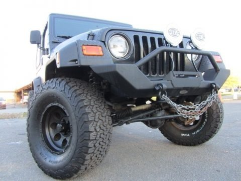 Black 2002 Jeep Wrangler X 4x4