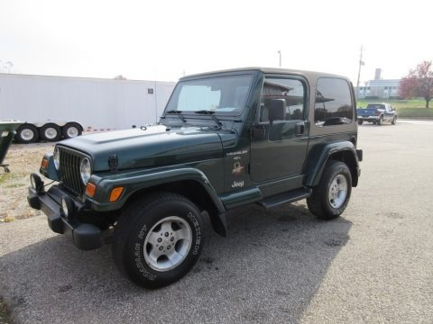 Forest Green Pearl 2000 Jeep Wrangler Sahara 4x4