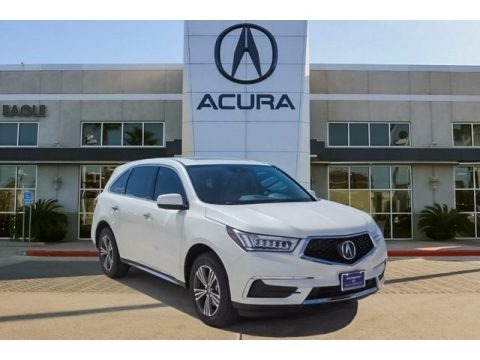 White Diamond Pearl 2018 Acura MDX