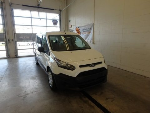Frozen White 2018 Ford Transit Connect XL Van