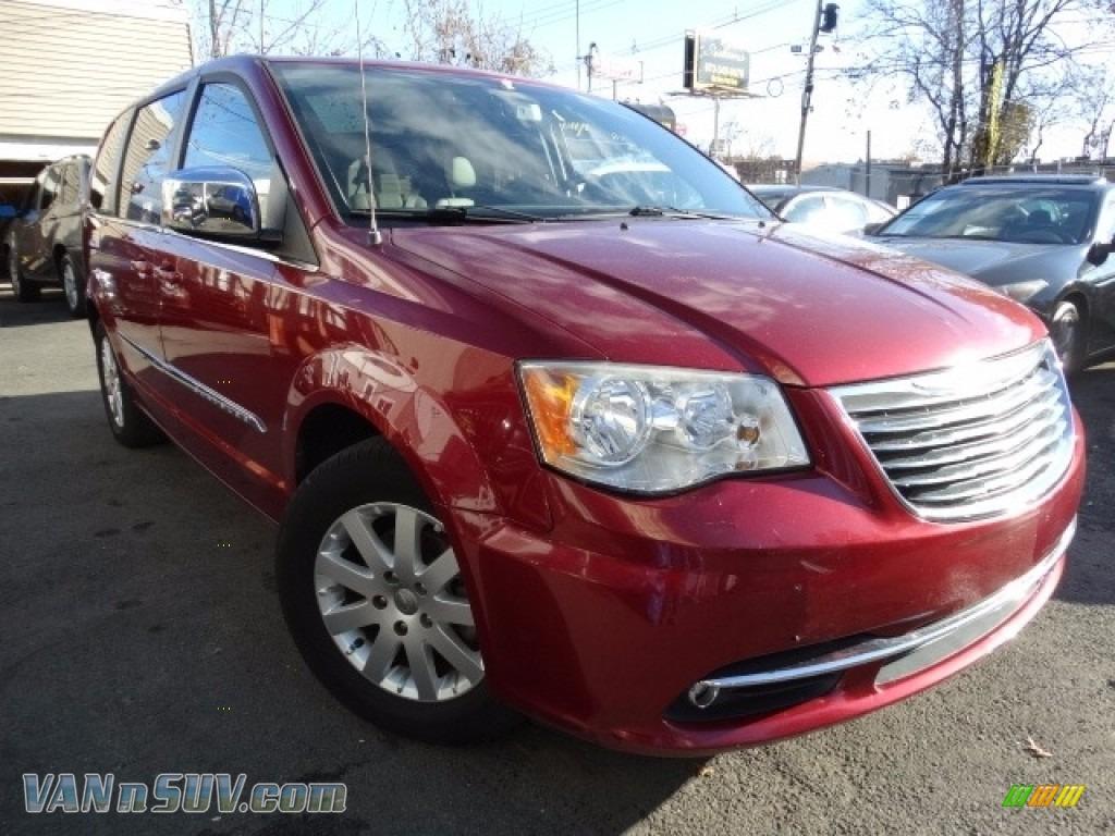 2011 Town & Country Touring - L - Deep Cherry Red Crystal Pearl / Dark Frost Beige/Medium Frost Beige photo #1