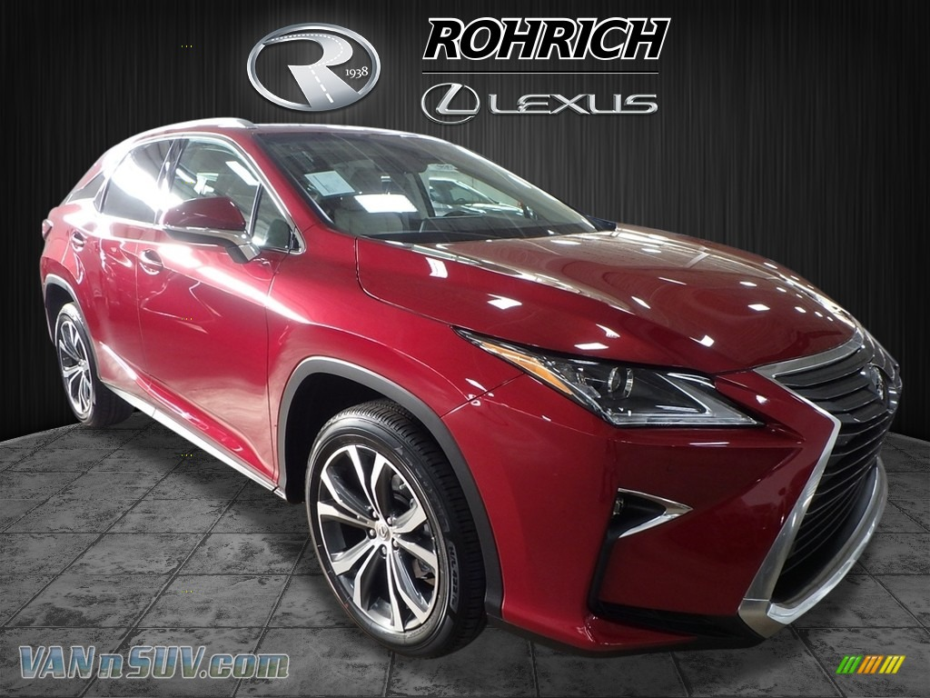 2017 RX 350 AWD - Matador Red Mica / Parchment photo #1