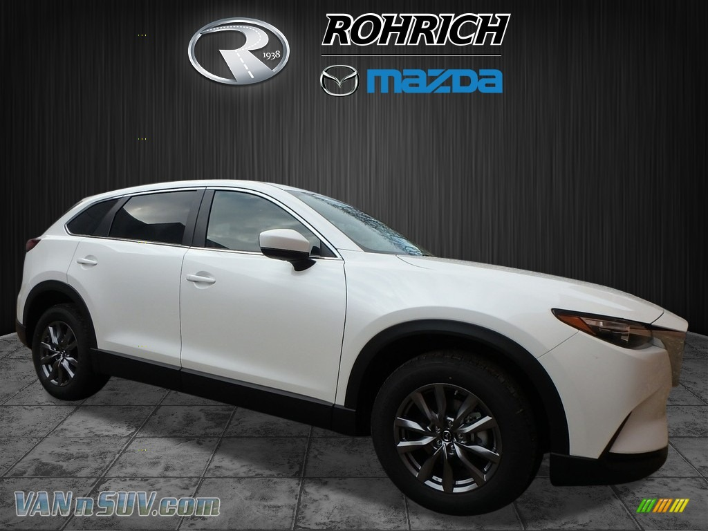 2018 CX-9 Sport AWD - Snowflake White Pearl Mica / Black photo #1