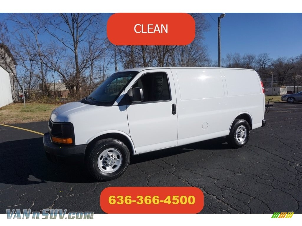 Summit White / Neutral Chevrolet Express 2500 Cargo WT
