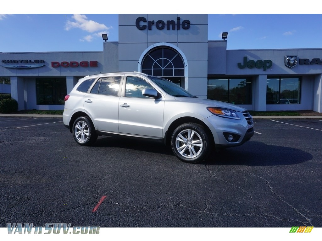 2012 Santa Fe Limited - Moonstone Silver / Cocoa Black photo #1