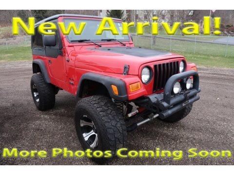 Flame Red 2005 Jeep Wrangler X 4x4