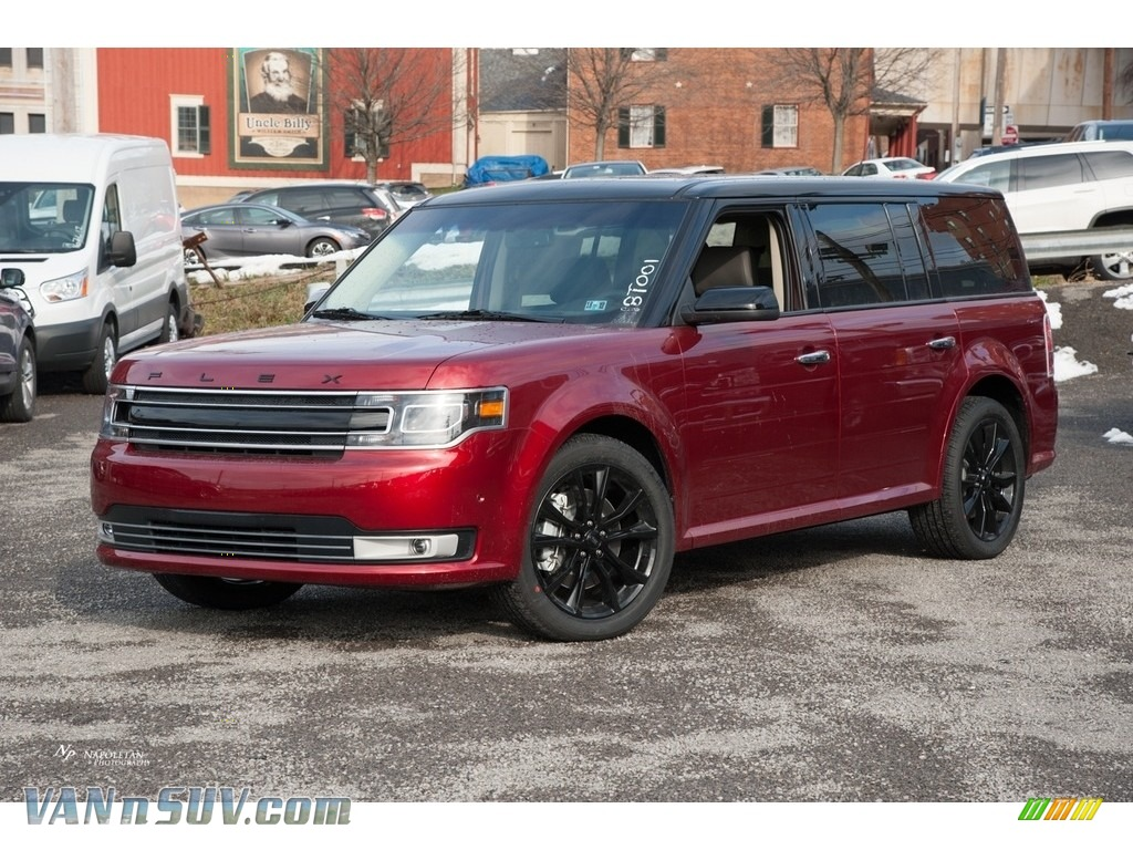 2018 Flex Limited AWD - Ruby Red / Charcoal Black photo #1
