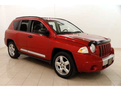Inferno Red Crystal Pearl 2008 Jeep Compass Limited 4x4