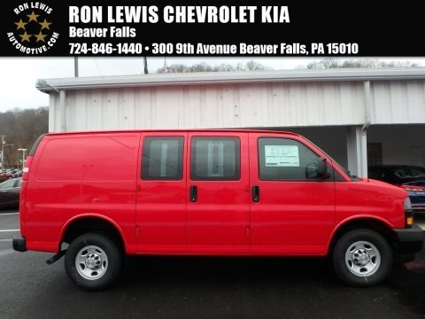 Red Hot 2018 Chevrolet Express 2500 Cargo WT