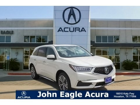 White Diamond Pearl 2018 Acura MDX AWD