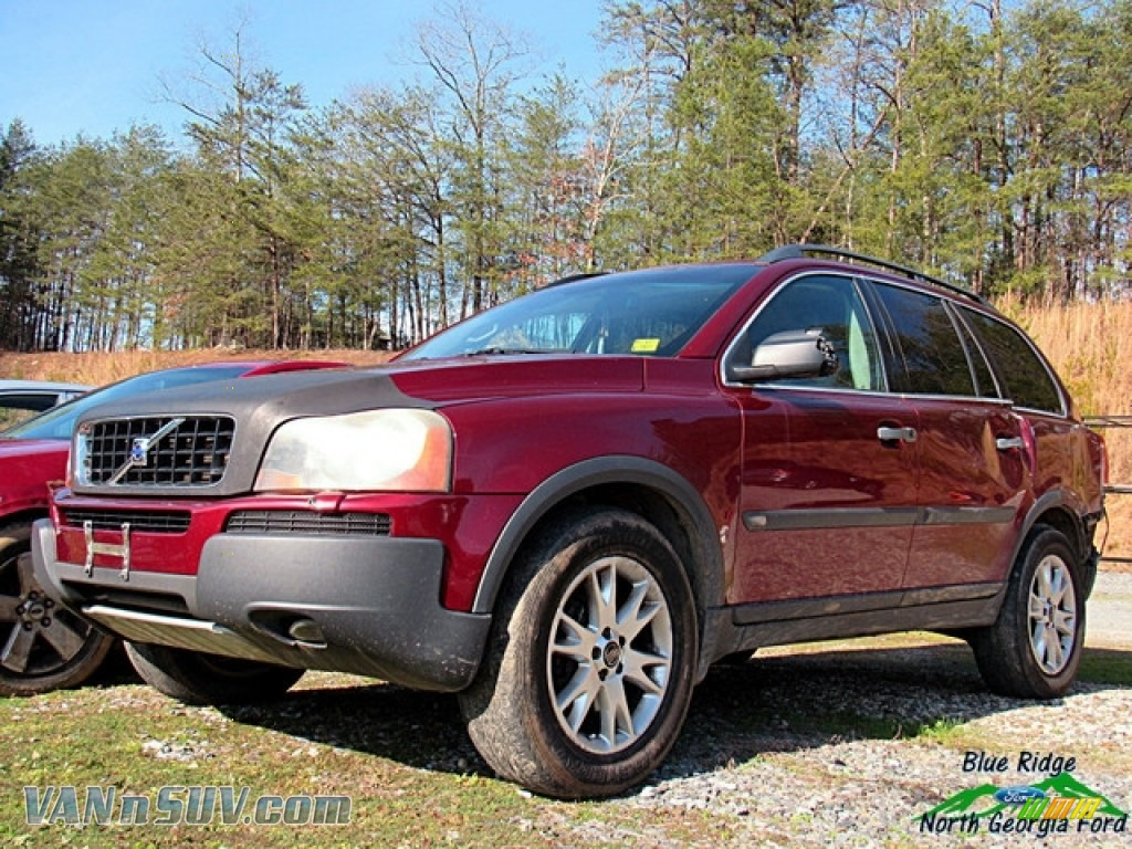 2003 XC90 T6 AWD - Ruby Red Metallic / Graphite photo #1