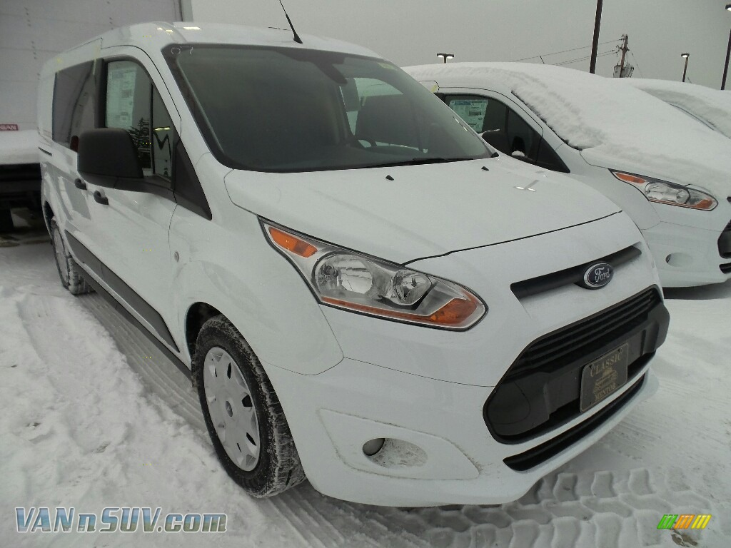 Frozen White / Charcoal Black Ford Transit Connect XLT Van