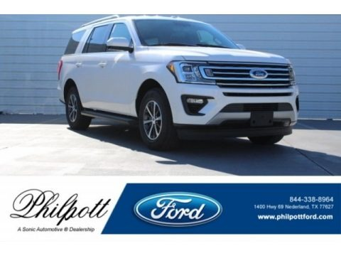 White Platinum 2018 Ford Expedition XLT