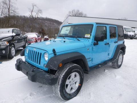 Chief Blue 2018 Jeep Wrangler Unlimited Sport 4x4