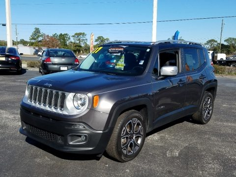 Granite Crystal Metallic 2017 Jeep Renegade Limited