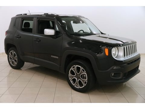 Black 2016 Jeep Renegade Limited 4x4