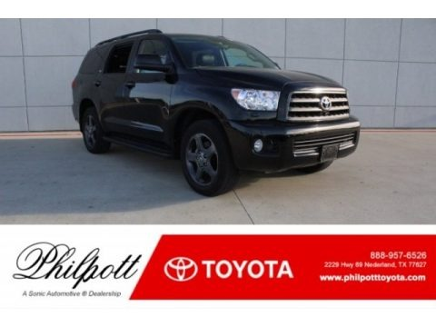 Black 2017 Toyota Sequoia SR5