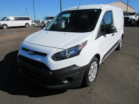 Frozen White 2016 Ford Transit Connect XL Cargo Van Extended