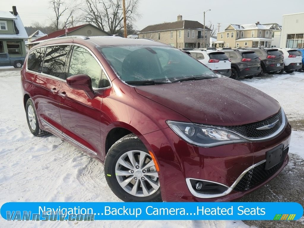 2018 Pacifica Touring L Plus - Velvet Red Pearl / Black/Alloy photo #1