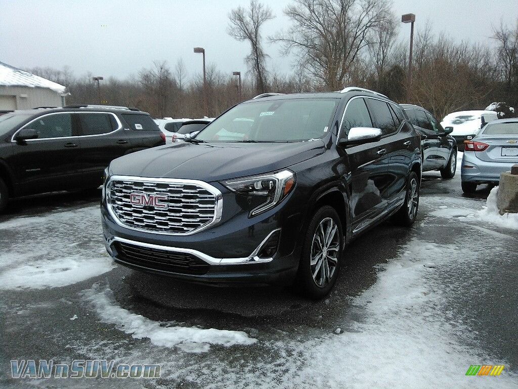 2018 Terrain Denali AWD - Blue Steel Metallic / ­Jet Black photo #1