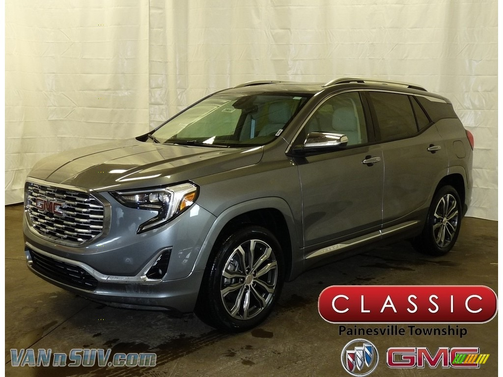 Satin Steel Metallic / ­Light Platinum/­Taupe GMC Terrain Denali AWD