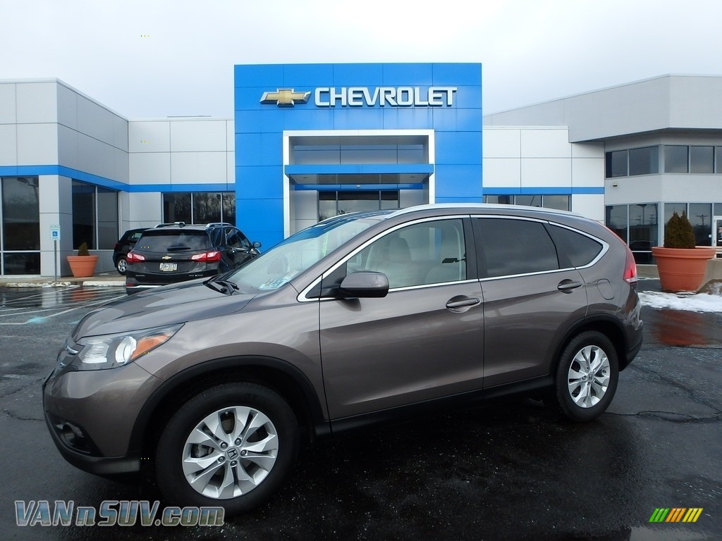 2013 CR-V EX-L AWD - Urban Titanium Metallic / Beige photo #1