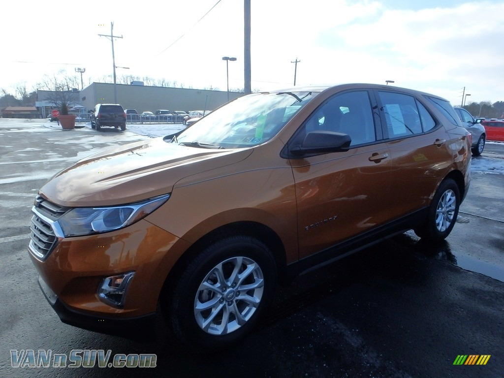 Orange Burst Metallic / Medium Ash Gray Chevrolet Equinox LS