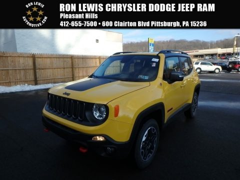 Solar Yellow 2017 Jeep Renegade Trailhawk 4x4