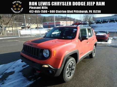 Omaha Orange 2017 Jeep Renegade Trailhawk 4x4