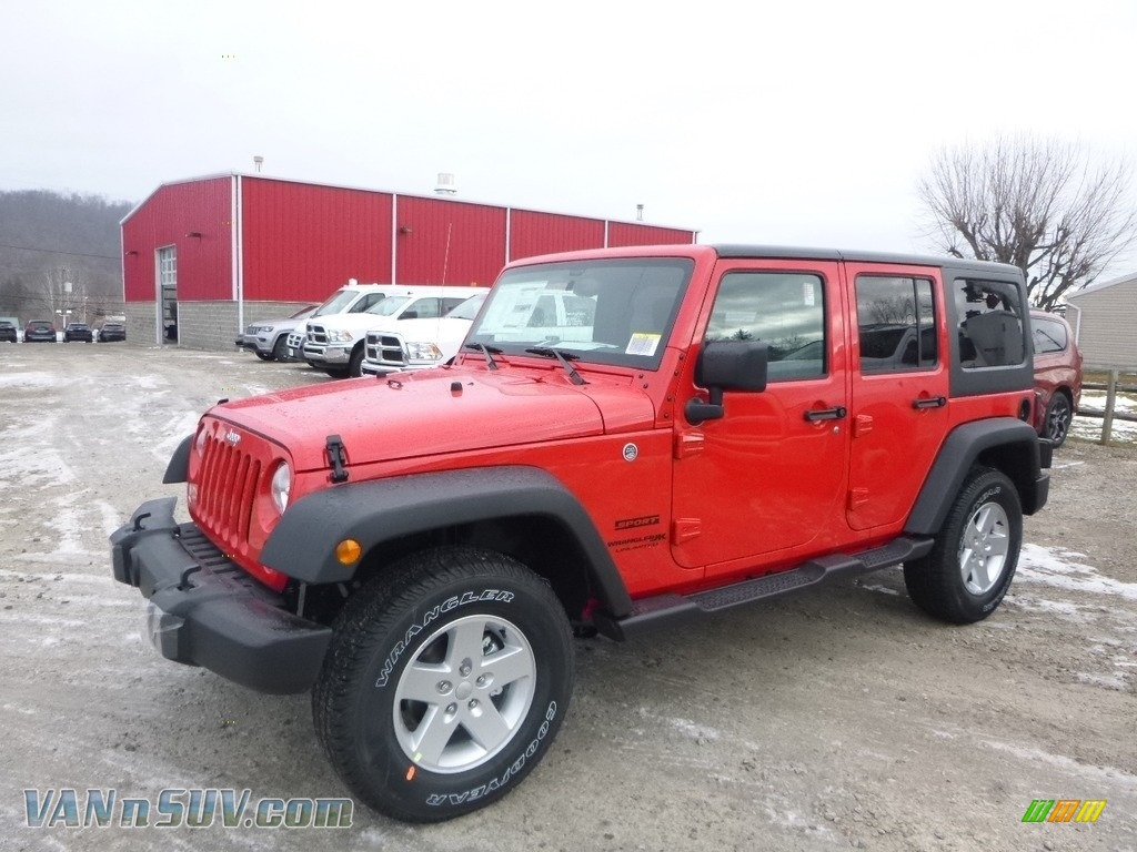2018 Wrangler Unlimited Sport 4x4 - Firecracker Red / Black photo #1