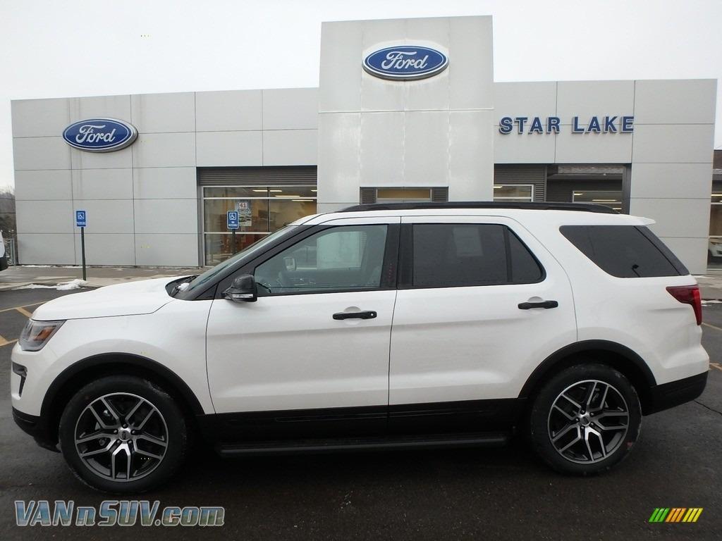 2018 Explorer Sport 4WD - White Platinum / Ebony Black photo #1