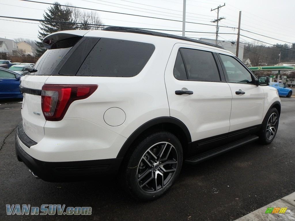 2018 Explorer Sport 4WD - White Platinum / Ebony Black photo #5